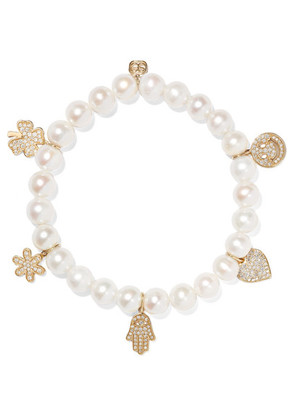 Sydney Evan - Pearl, Diamond And 14-karat Gold Bracelet - one size