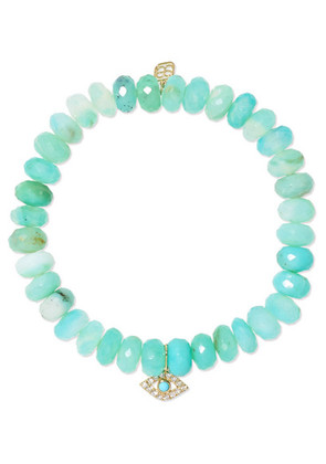 Sydney Evan - Evil Eye 14-karat Gold, Turquoise And Diamond Bracelet - one size
