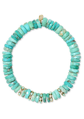 Sydney Evan - 14-karat Gold, Turquoise And Diamond Bracelet - one size