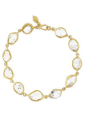 Pippa Small - 18-karat Gold Herkimer Diamond Bracelet - one size