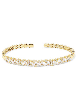 Suzanne Kalan - 18-karat Gold Diamond Cuff - one size