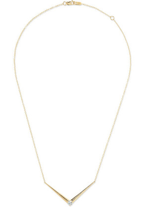 Melissa Kaye - Aria V 18-karat Gold Diamond Necklace - one size
