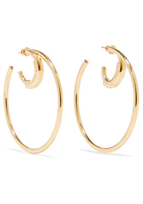 Chloé - Reese Gold-tone Hoop Earrings - one size