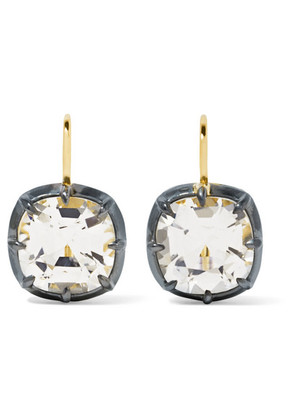 Fred Leighton - Collection 18-karat Gold, Silver-plated And Topaz Earrings - one size