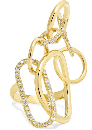 Gaelle Khouri - Qualia 18-karat Gold Diamond Ring - 5