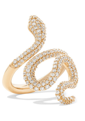 OLE LYNGGAARD COPENHAGEN - Snake Medium 18-karat Gold Diamond Ring - 6