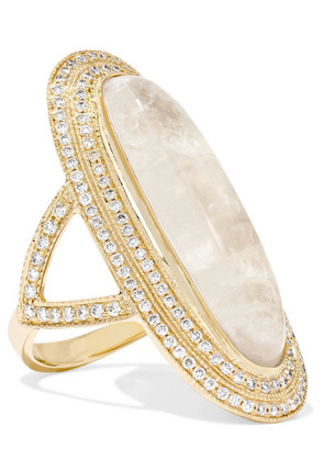 Jacquie Aiche - 14-karat Gold, Moonstone And Diamond Ring - 6