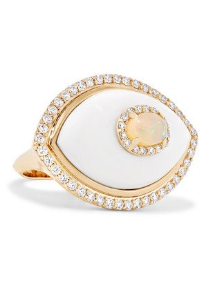 Marlo Laz - Eyecon 14-karat Gold Multi-stone Ring - 7