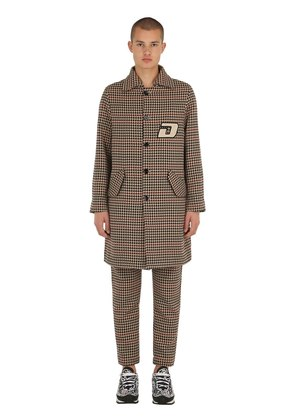 COTTON HOUNDSTOOTH LONG COAT