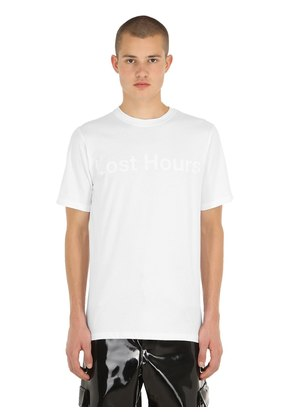 LOST HOURS PRINTED COTTON JERSEY T-SHIRT