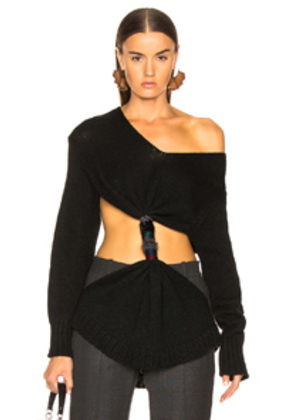 Loewe Embroidered Knot Sweater in Black