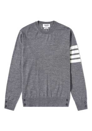 Thom Browne Classic Merino Crew Knit Medium Grey