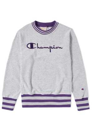 Champion Reverse Weave Vintage Terry Crew Sweat Grey Melange