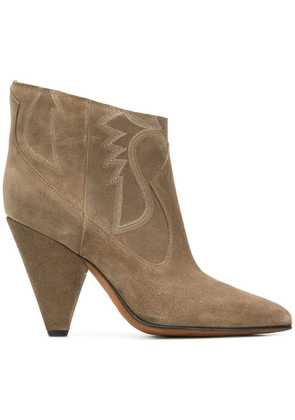 Buttero embroidered sides ankle boots - Neutrals