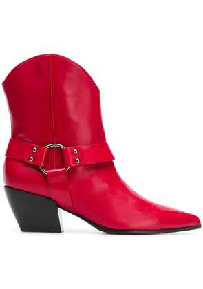 Deimille cuban heel ankle boots - Red