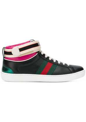 Gucci web detail sneakers - Black