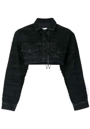 Off-White cropped denim jacket - Black