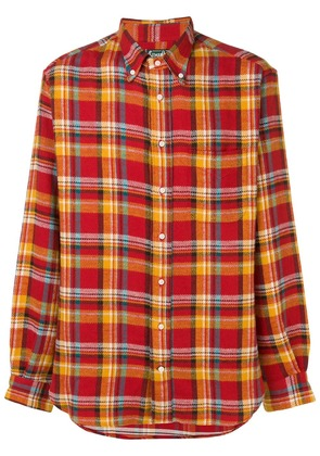 Gitman Vintage checked flannel shirt - Red