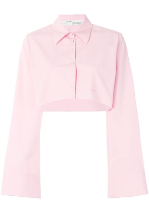Off-White cropped shirt - Pink