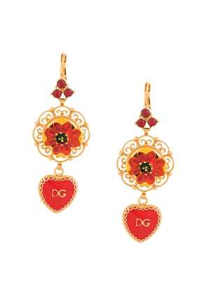 Dolce & Gabbana DG heart drop earrings - Gold