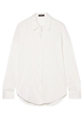 Theory - Sunaya Stretch-silk Shirt - Ivory