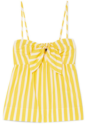 J.Crew - Mireille Knotted Striped Cotton-poplin Camisole - Yellow