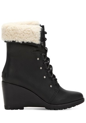 AFTER HOURS SHEARLING LACE-UP BOOTS