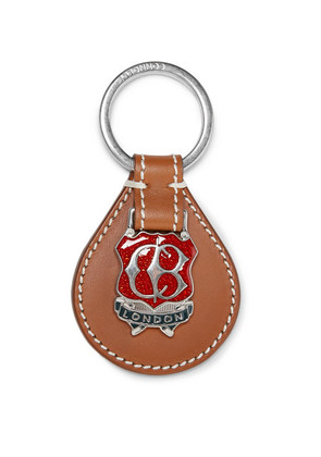 Connolly - Embellished Leather Key Fob - Brown