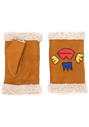 Agnelle detailed hand warmers - Brown