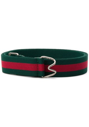 Gucci Web striped belt - Green