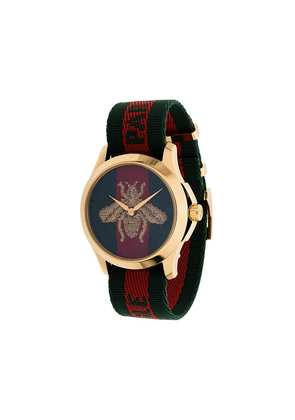 Gucci striped bee watch - Green