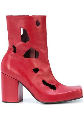 Charles Jeffrey Loverboy cut-out detail heel boots - Red