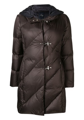 Fay padded hooded coat - Brown