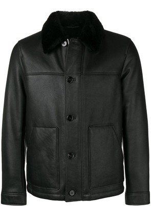 Theory buttoned shearling jacket - Black/X3k