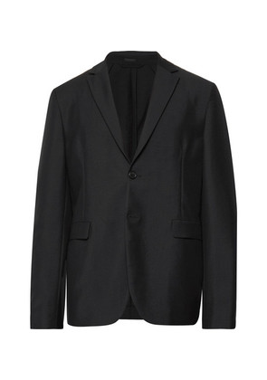 Black Antibes Unstructured Wool And Mohair-blend Blazer