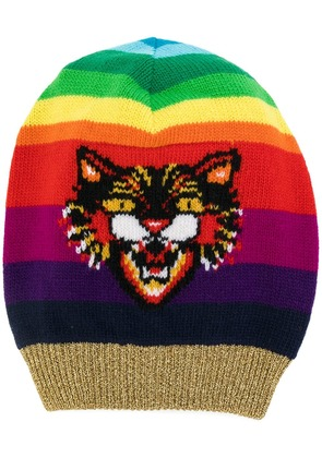 Gucci Angry Cat motif beanie hat - Multicolour
