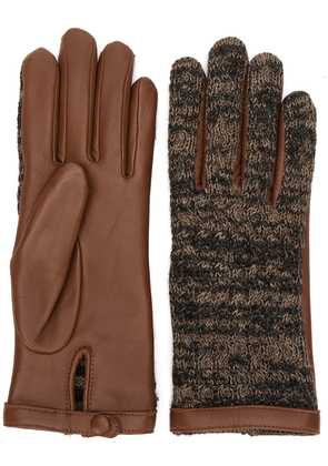 Agnelle knitted front gloves - Brown