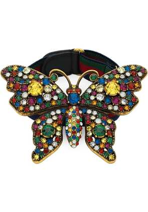 Gucci Crystal studded butterfly bracelet - Multicolour