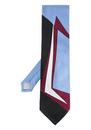 Marni graphic patterned tie - Blue