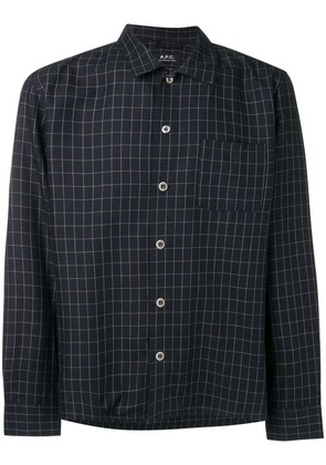 A.P.C. grid pattern shirt - Blue