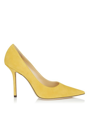 LOVE 100 Saffron Suede Pointy Toe Pumps