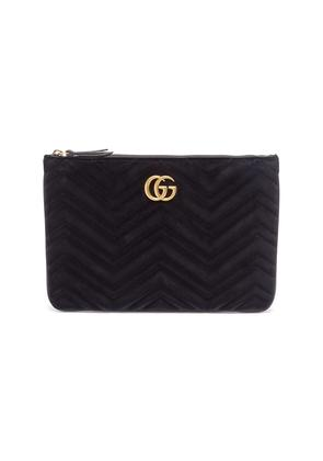 'GG Marmont' quilted velvet pouch