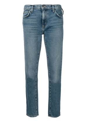 Current/Elliott mid rise cropped jeans - Blue