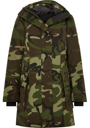 Canada Goose - Kinley Hooded Quilted Camouflage-print Shell Down Parka - Green