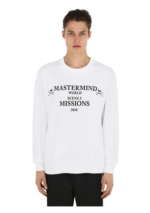 MISSIONS PRINTED COTTON SWEATSHIRT