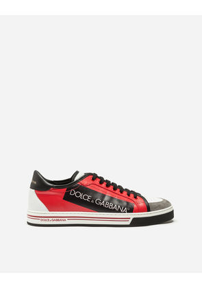 Dolce & Gabbana Sneakers and Slip-On - ROMA SNEAKERS IN COATED CANVAS AND CALFSKIN RED
