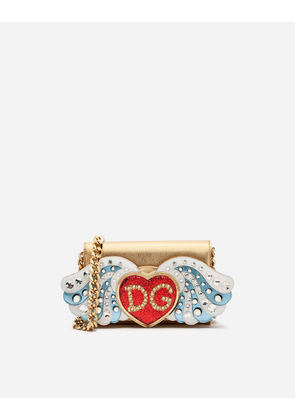 Dolce & Gabbana Mini Bags and Clutches - LARGE WALLET BAG IN CALFSKIN WITH PATCHES AND EMBROIDERIES GOLD