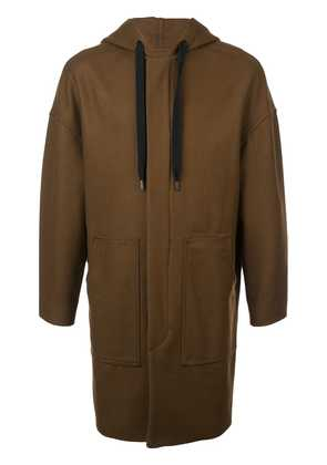Isabel Marant hooded coat - Brown
