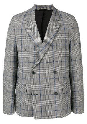 Joseph Charles Washed Textured Check jacket - Grey