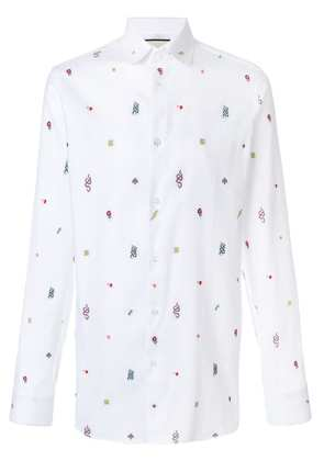 Gucci embroidered motif shirt - White